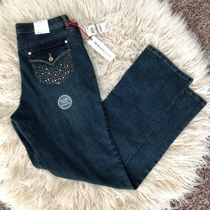 NWT Style&Co women's blue jeans.Sz12 tummy control